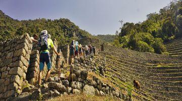 Hiking Wiñaywayna in the Inca Trail 2 Day Tour
