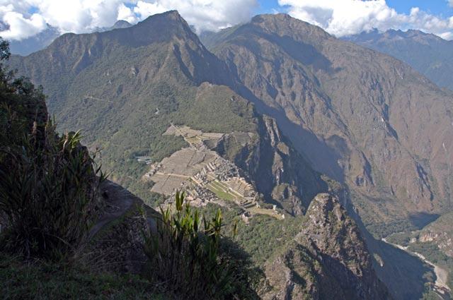 View of Machu Picchu from the Huayna Picchu Mountain